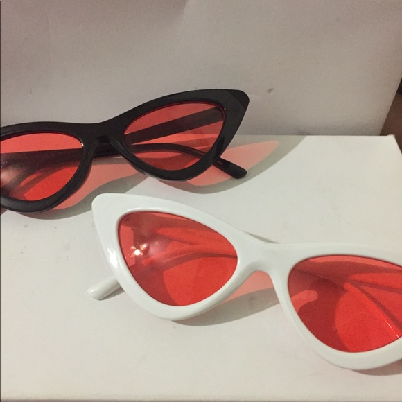 Accessories - Red Lens Triangle sunglasses combo